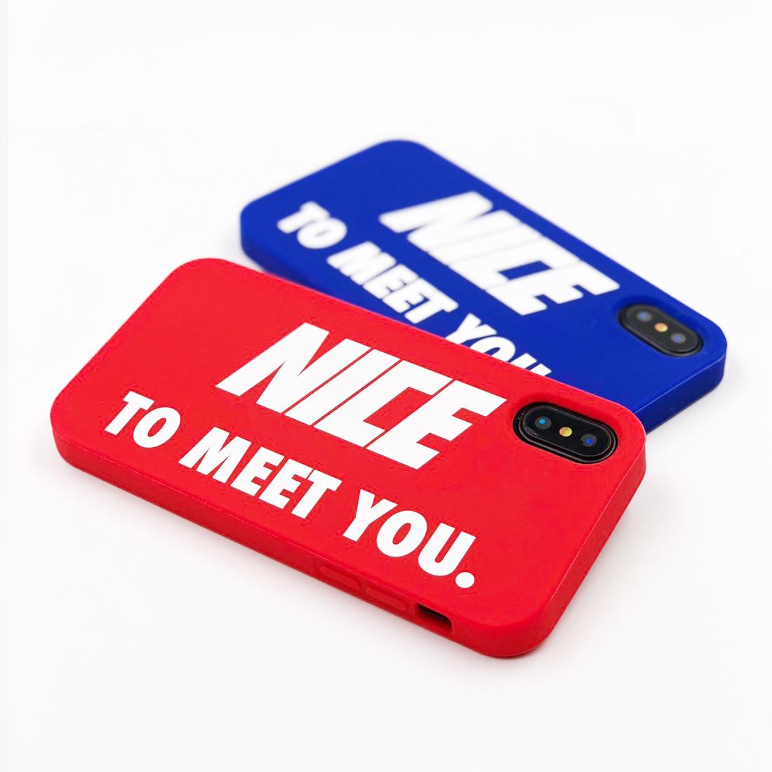 """SIMPLE CASE """"NICE TO MEET YOU"""" for iPhoneXS/iPhoneX"""