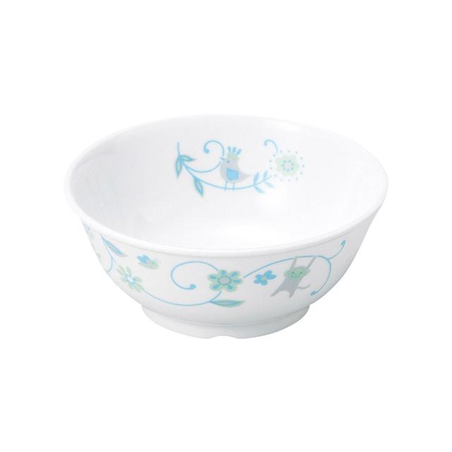 【1087-1320】強化磁器11cm こども茶碗 サラサ・ブルー