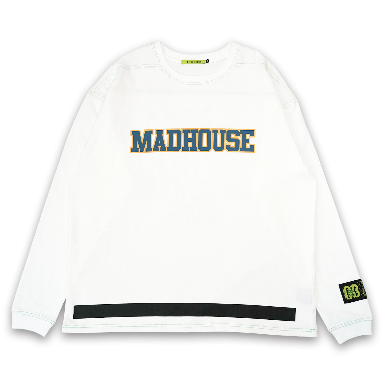 T.C.R MADHOUSE L/S TEE - WHITE