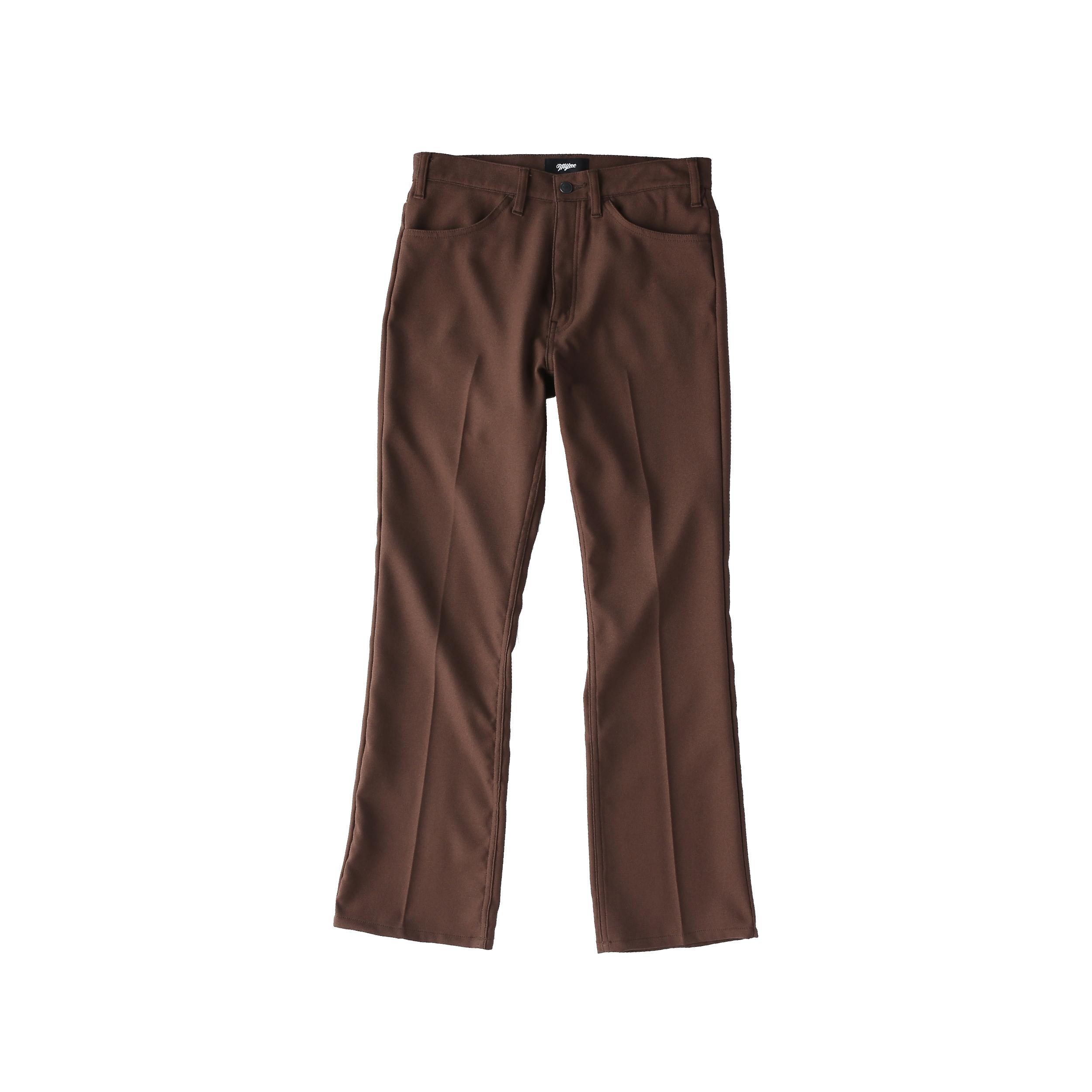 Wappen boot-cut pants / BROWN - 画像1