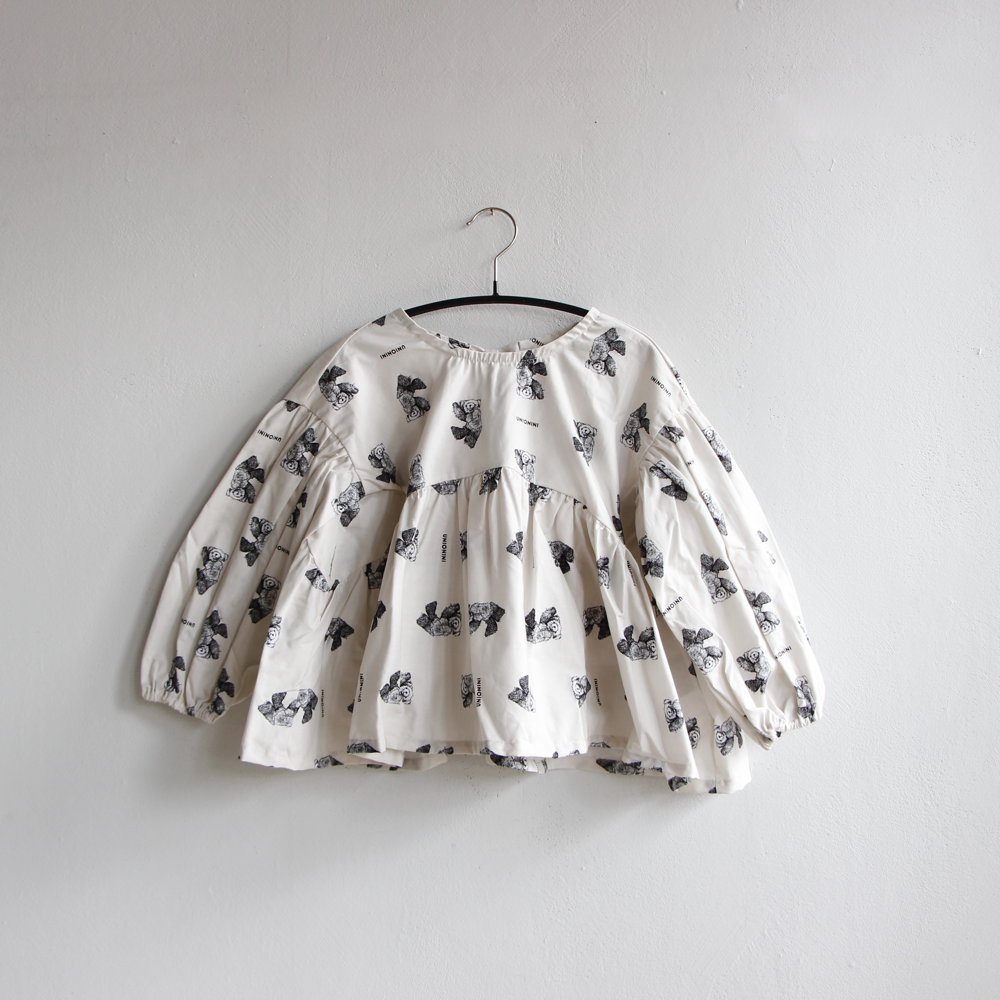 《UNIONINI 2020AW》teddybear blouse / kinari / 2-12Y