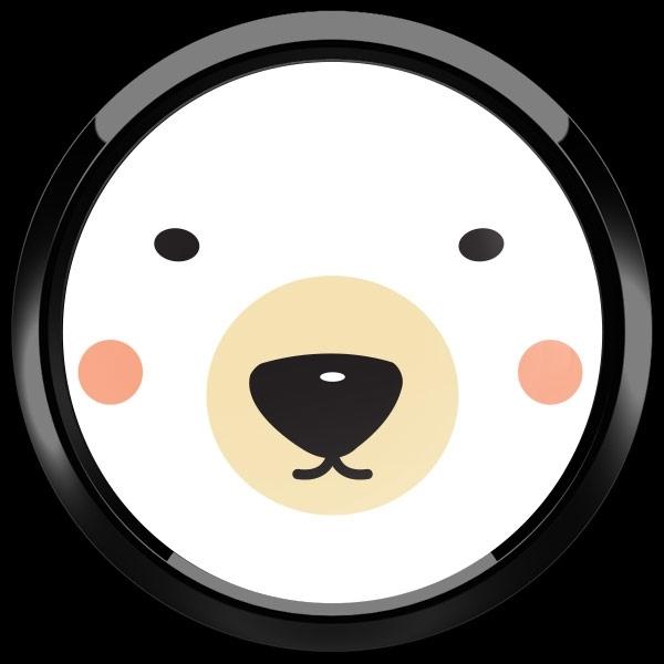 ゴーバッジ(ドーム)(CD0889 - Seasonal Polar Bear) - 画像2