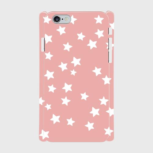 iPhone6/6sスマホケース☆スター×ピンク☆ 側表面印刷ツヤ有り(コート)