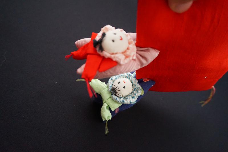 着物、和服の古布人形・クリップ「赤ちゃん」 - 画像3