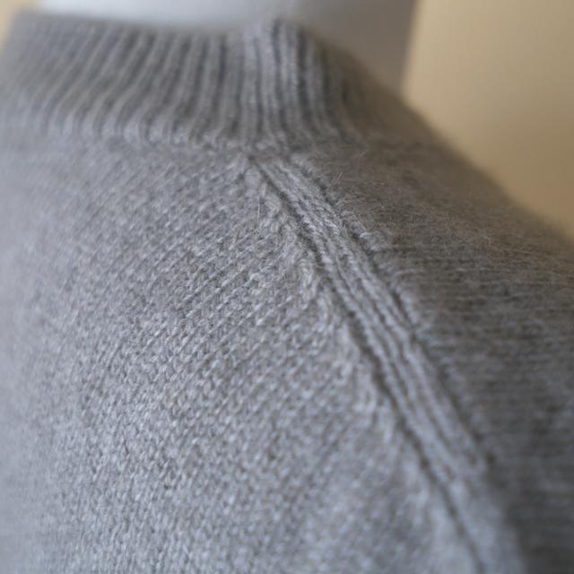 evam eva エヴァムエヴァ wool sable pullover オイスター