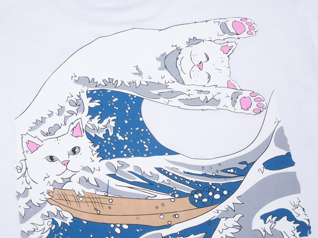 RIPNDIP|The Great Wave Of Nerm Tee (White)