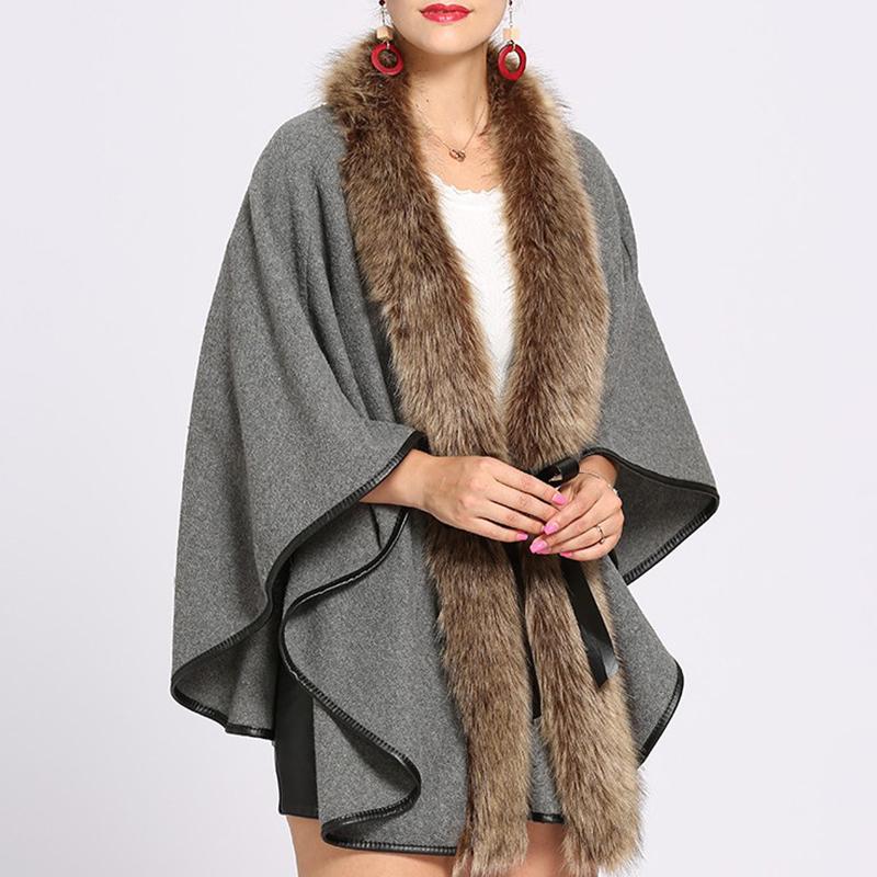 【アウター】ファー切り替え人気気質暖かいコート