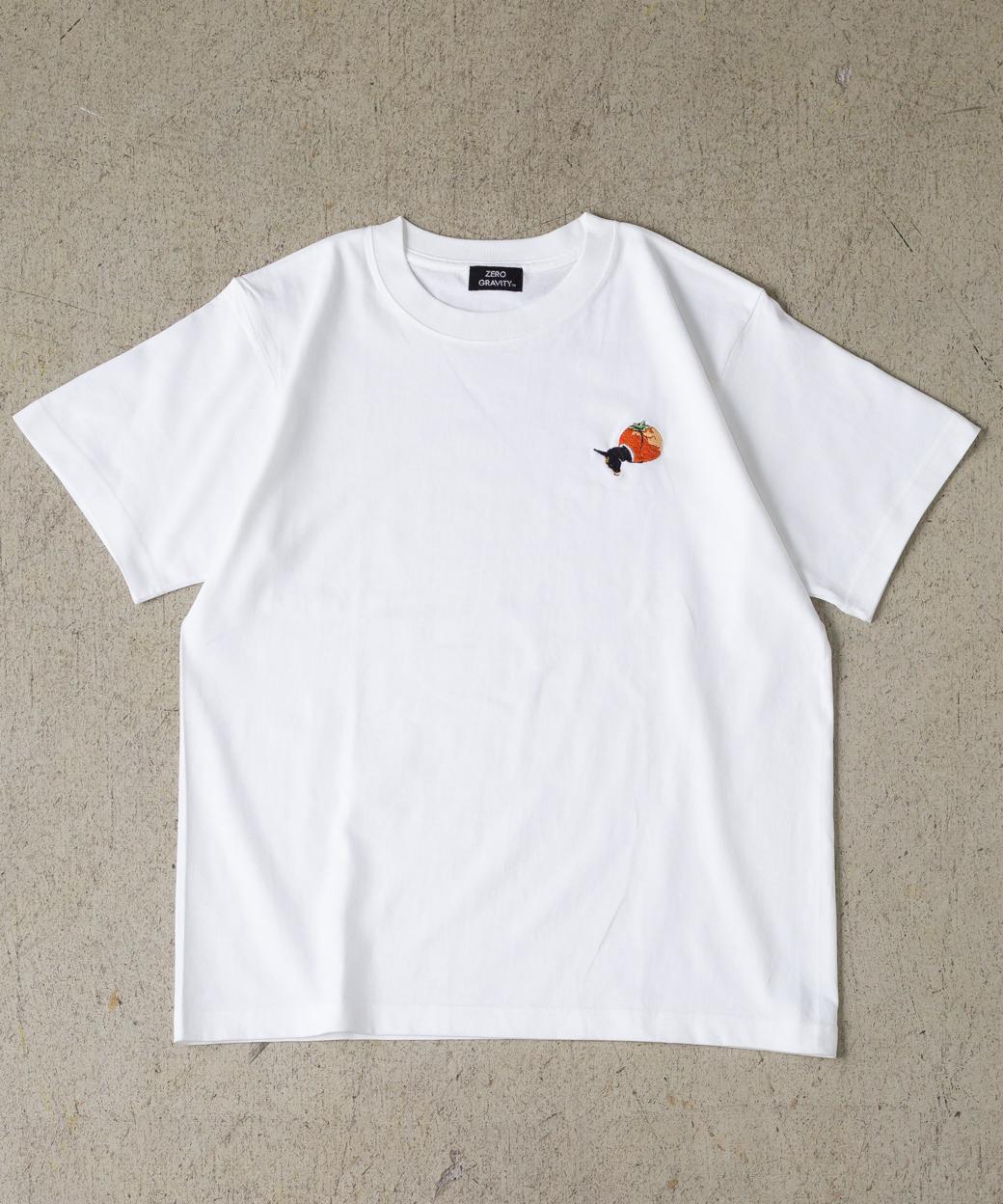 「みかん頭」 刺繍T-SHIRT WAVE