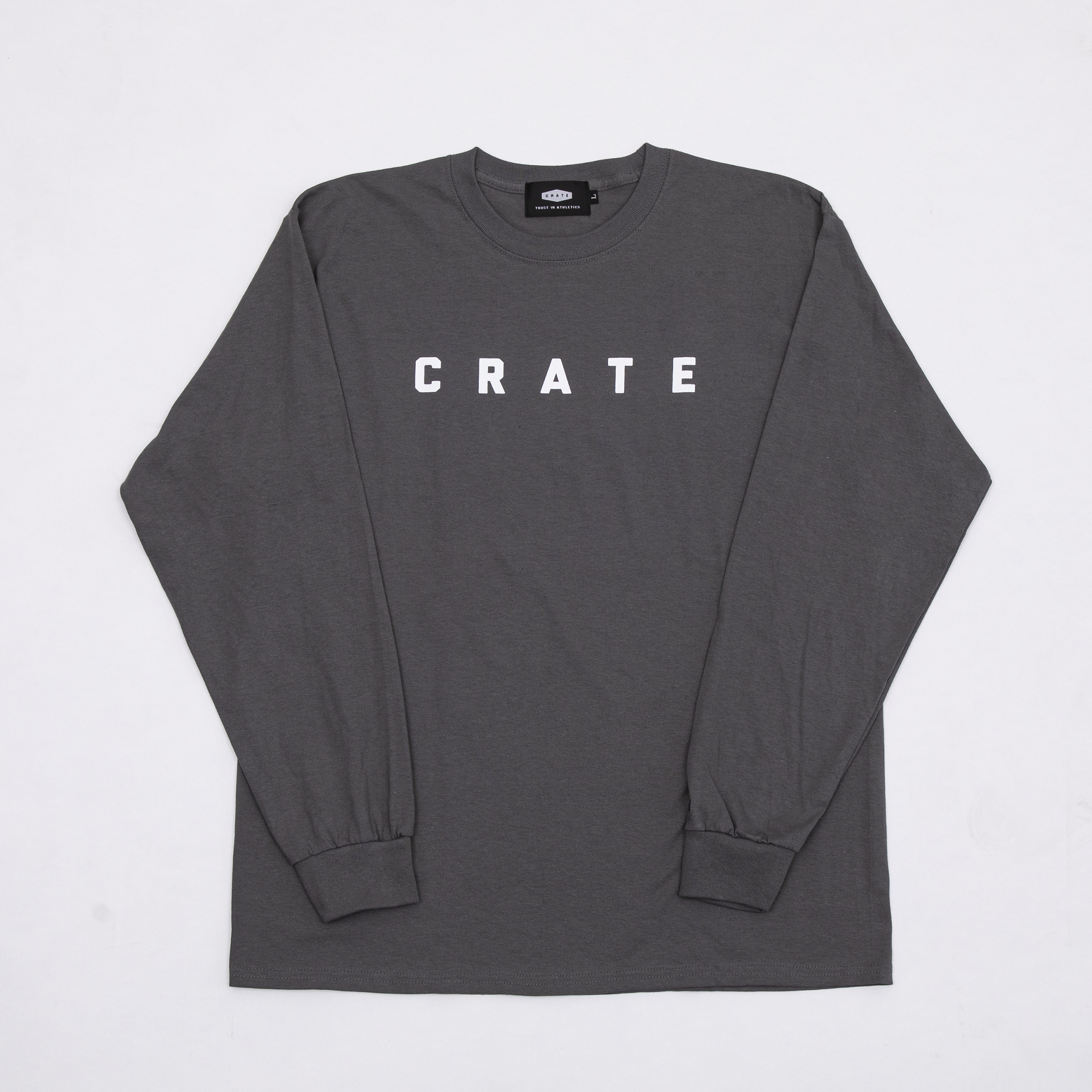 CRATE SIMPLE LOGO L/S T-SHIRTS  GRAY