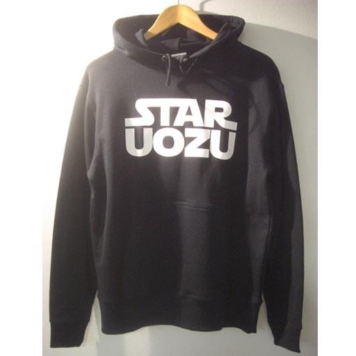 STAR UOZU パーカー ブラック×ホワイト