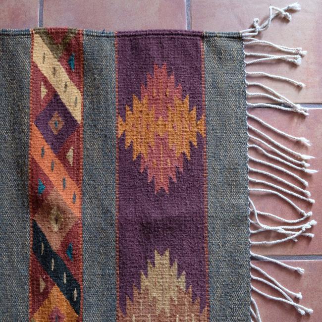 ラグ/メキシコ羊毛タペテ /222/ Teotitlan Del Valle/ MEXICO