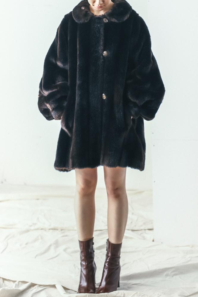 Vintage Deep Brown Fur Coat