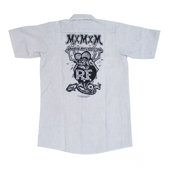 RATFINK×MxMxM MAGICAL MOSH RAT FINK WORK SHIR wh
