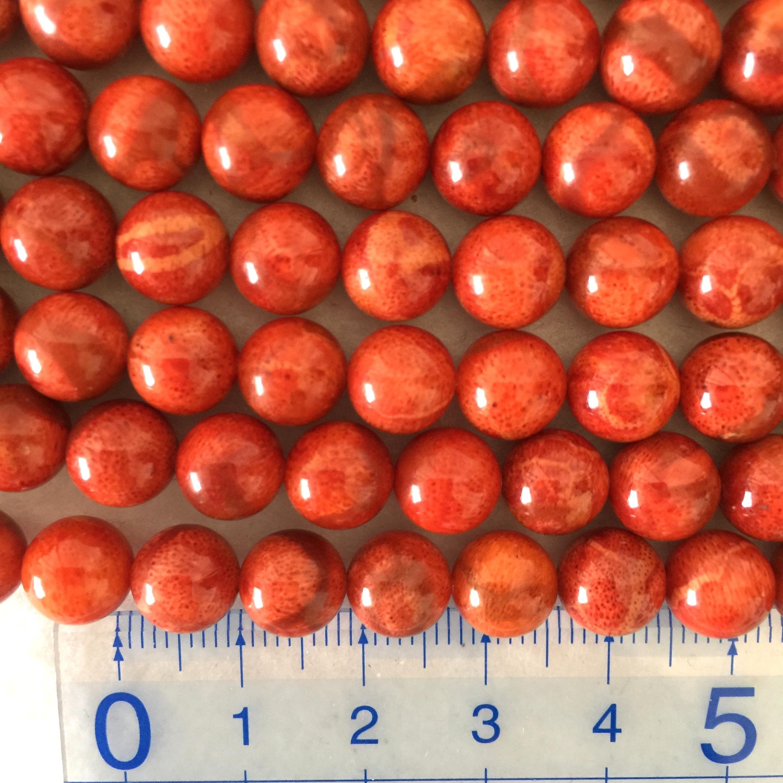 スポンジサンゴ 約8~8.5mm 中間色~明色 連材【190020C】