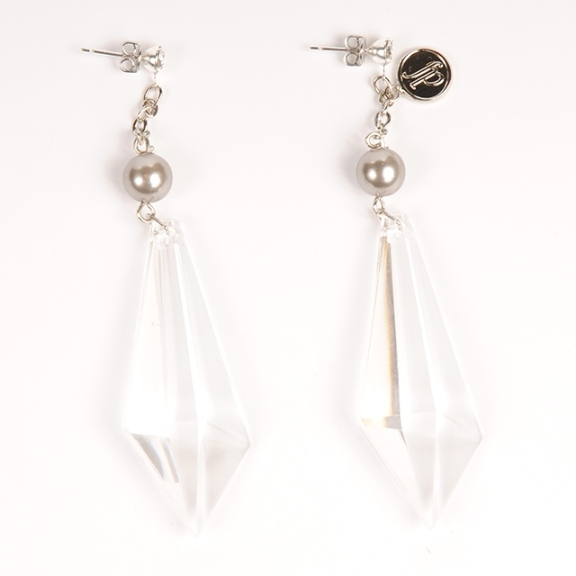 df18AW-J03 DIACUT EARRINGS  C (gray)