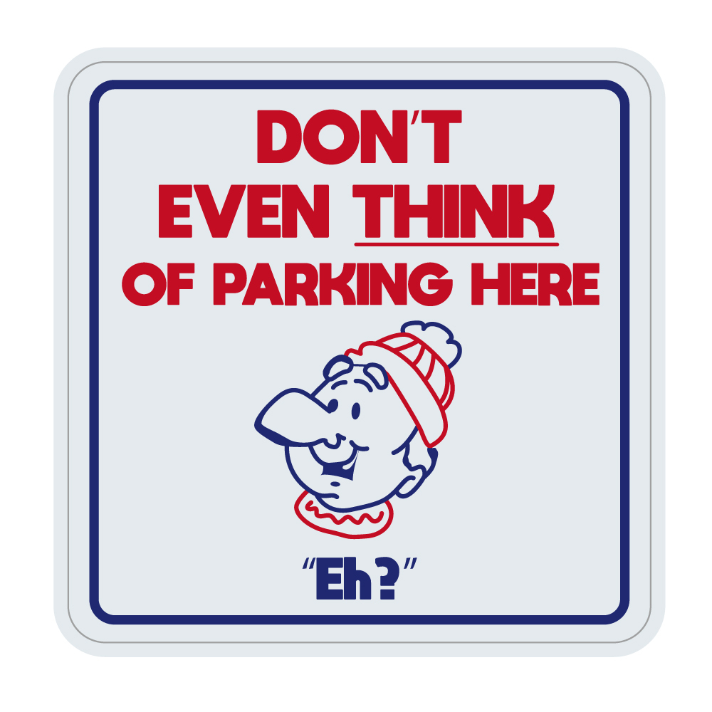 """310  DON'T EVEN THINK OF PARKING HERE  """"California Market Center"""" アメリカンステッカー スーツケース シール"""