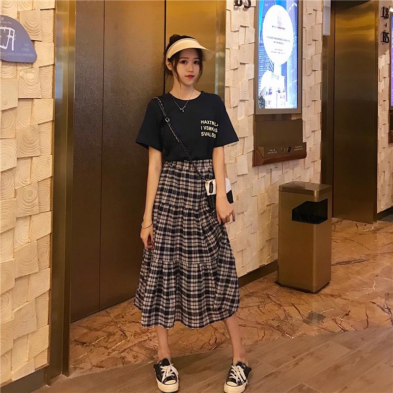 夏 新作 シャツとスカート セット商品 黒 レディース ファッション