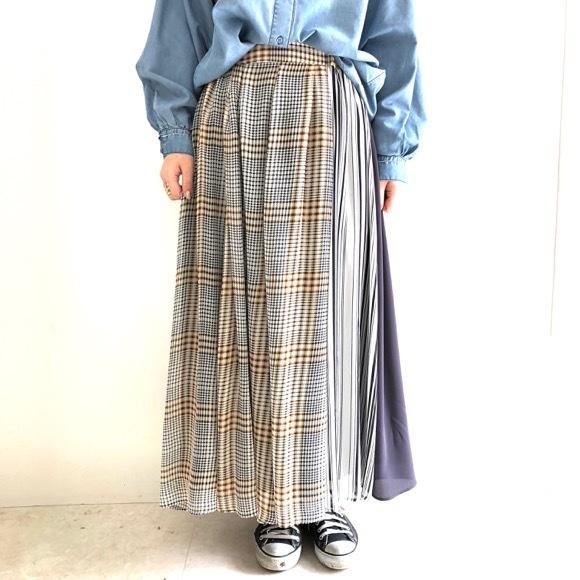【 Praia 】切り替えプリーツスカート