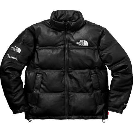 Supreme x The North Face Leather Nuptes Jacket Black