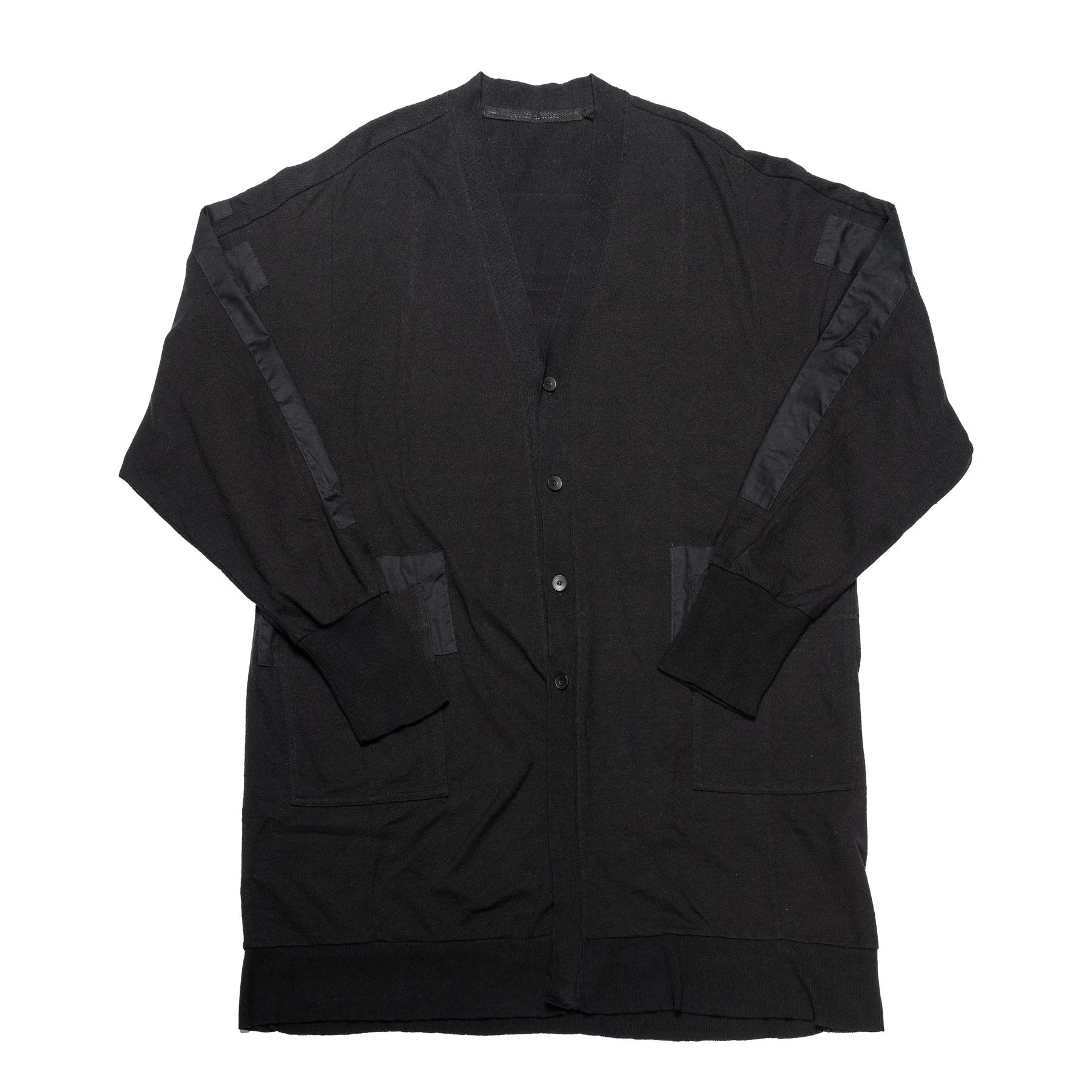 637CUM16-BLACK / パッチカーディガン