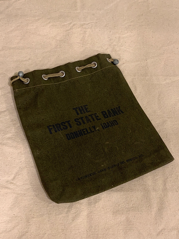 """BANK BAG  """" THE FIRST STATE BANK """""""