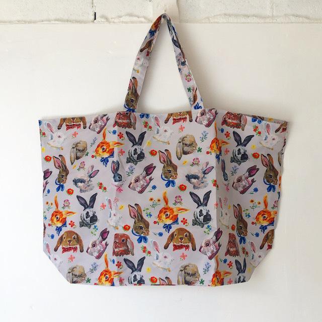Nathalie Lete Pocketable Eco Bag Rabbit ナタリーレテ エコバッグ ウサギ