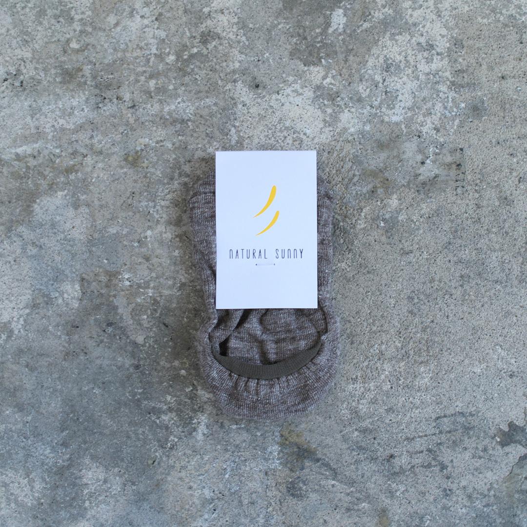 NISHIGUCHI KUTSUSHITA 西口靴下 natural sunny リネン杢フットカバー