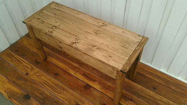 ベンチ椅子 収納付き 浅型