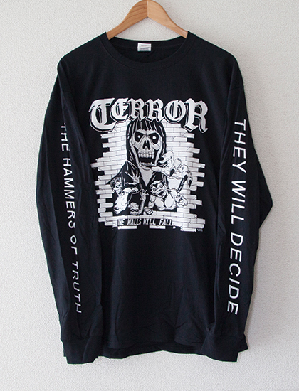 【TERROR】The Walls Will Fall Long Sleeve (Black)