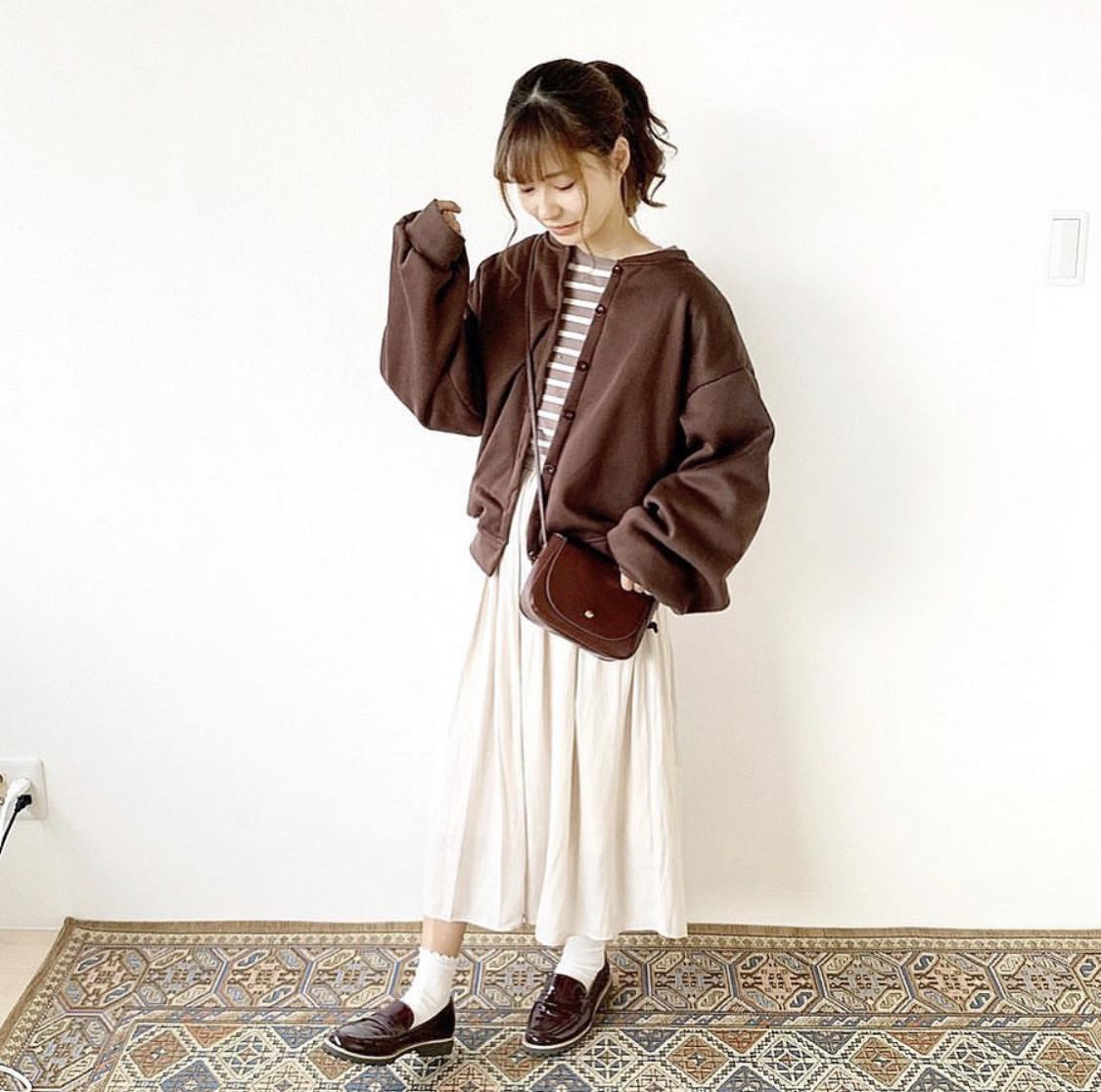【送料無料】 ゆるシルエットがかわいい♡ スウェット ボリューム袖 カーディガン 羽織り ブルゾン ジャケット