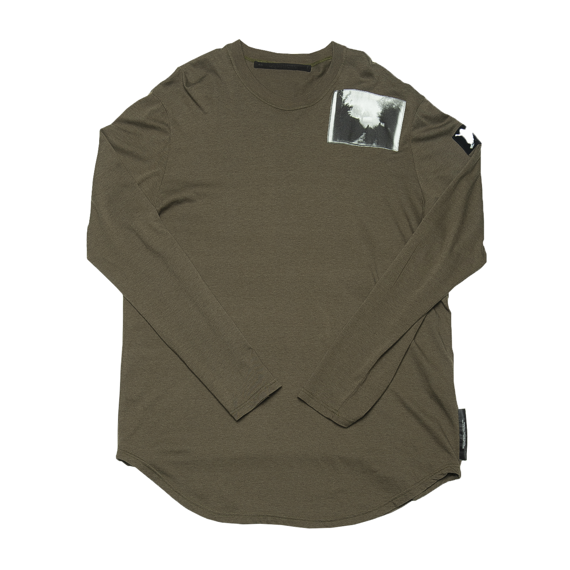 687CPM3-KHAKI / パッチプリントシャツ