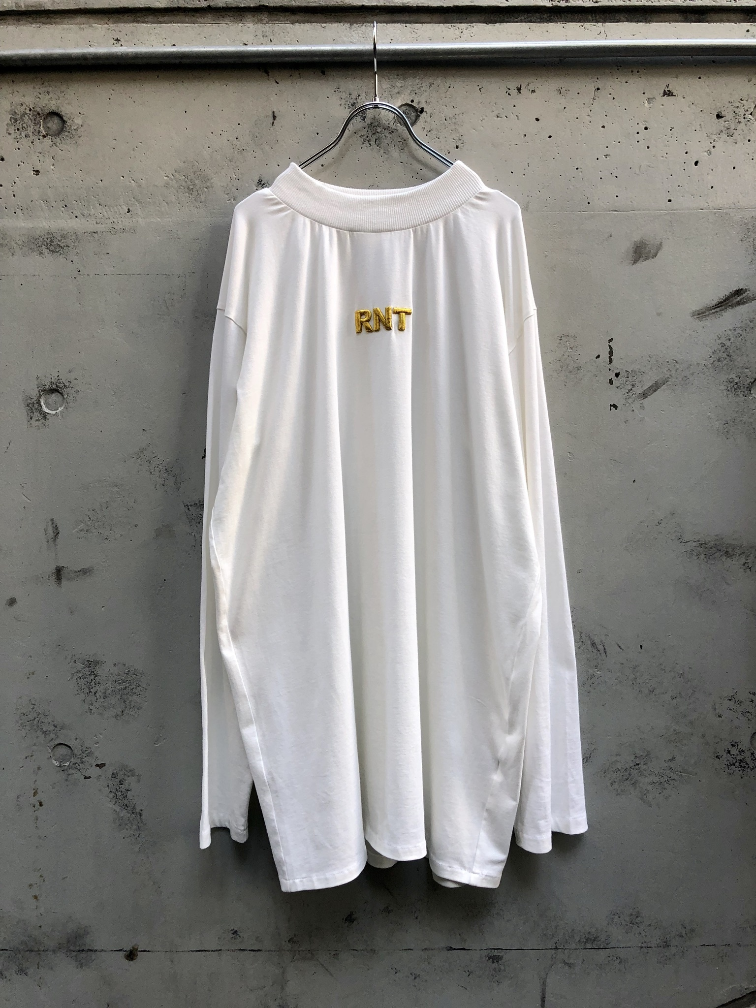 【RICE NINE TEN】HIGH NECK 3D RNT L/S TEE『white』