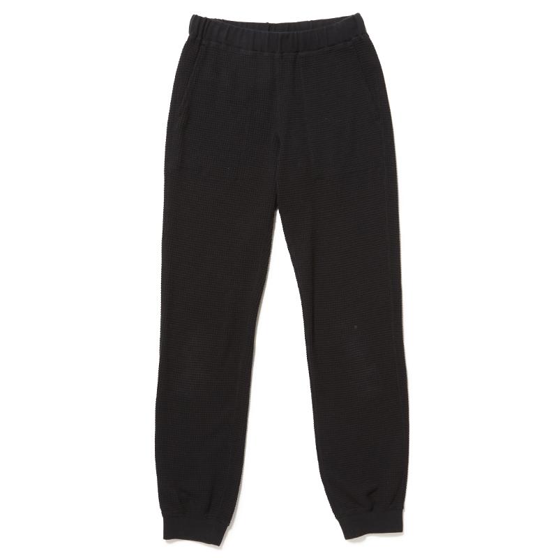 SEASONING LOGO THERMAL PANTS  - BLACK