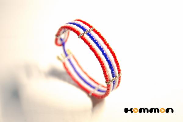 タイ国旗のうでわ