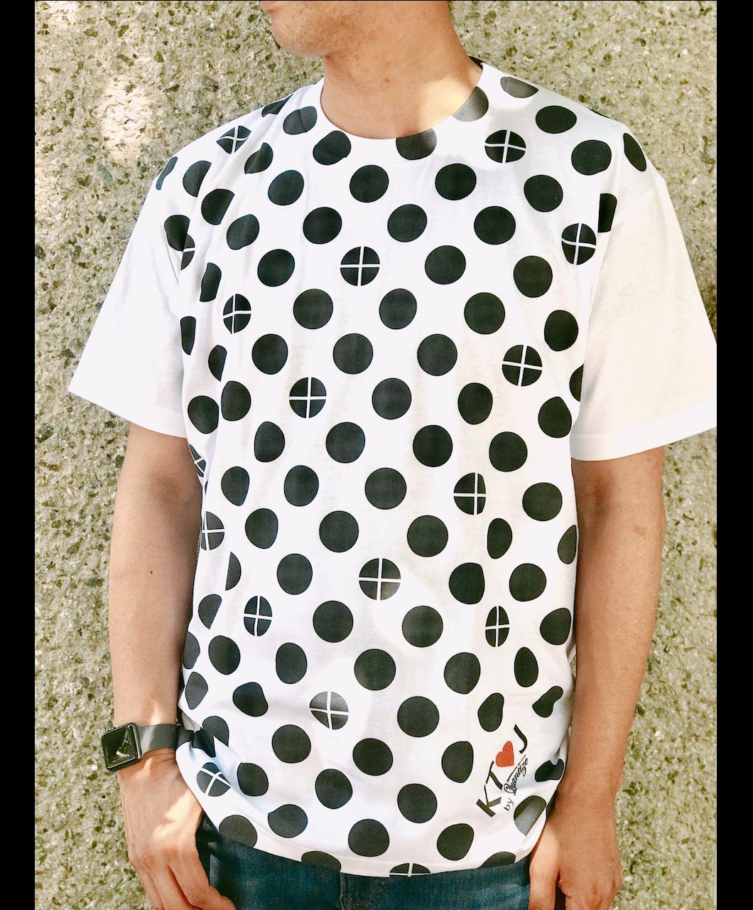 丸十ドットTシャツ メンズ