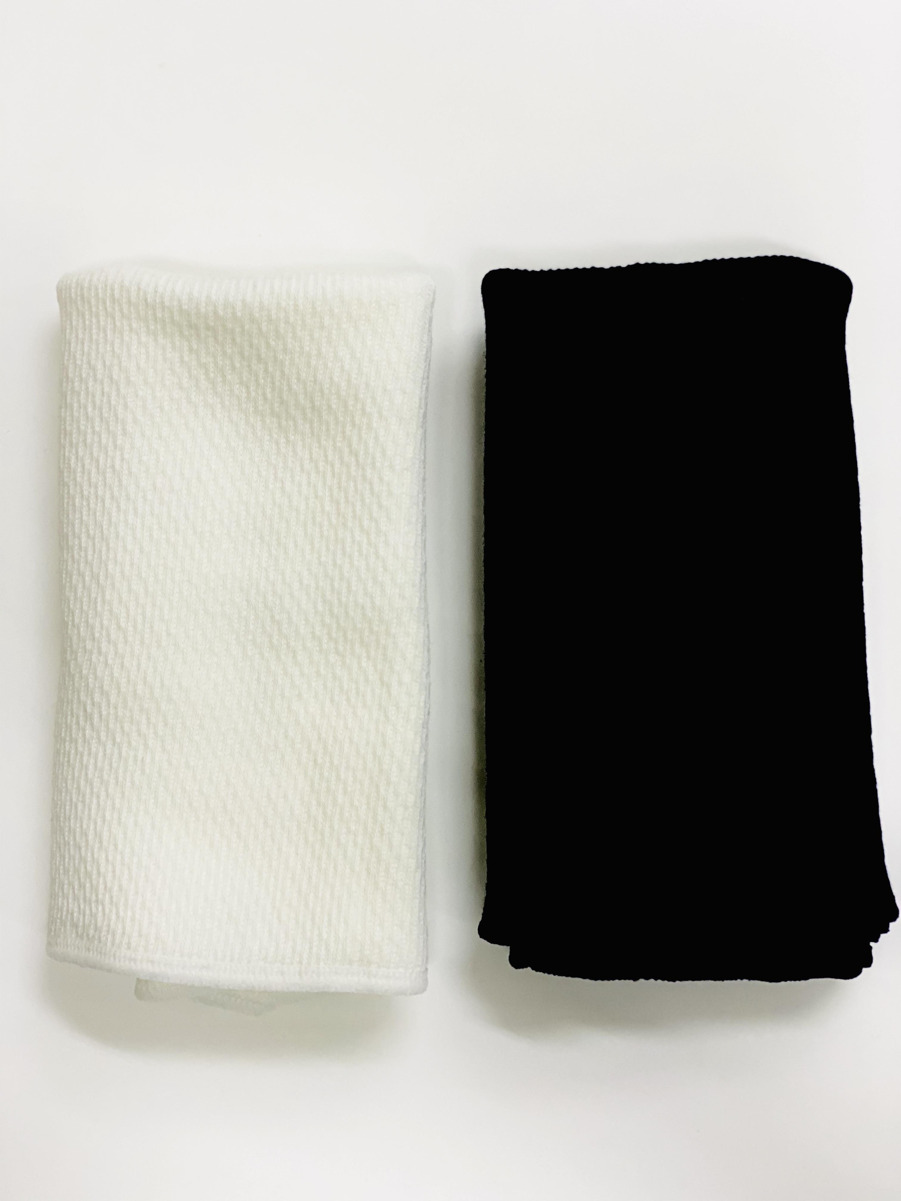 【日本製】シルク混のはらまき 『白と黒-2枚セット』