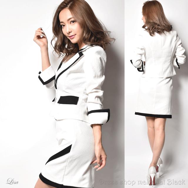 SALE (M.Lサイズ) 3色展開 ジャケット&スカートスーツ ¥12.744- (税込) キャバドレス ドレス パーティー 9008