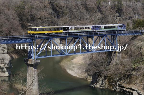 会津鉄道・お座トロ展望列車と橋_DSC6360