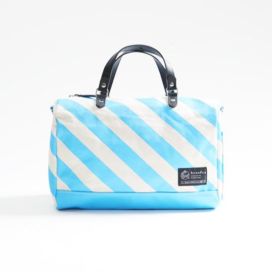 mini duffle bag / sky ミニダッフルバッグ / 空 x 縞・鱗・水玉