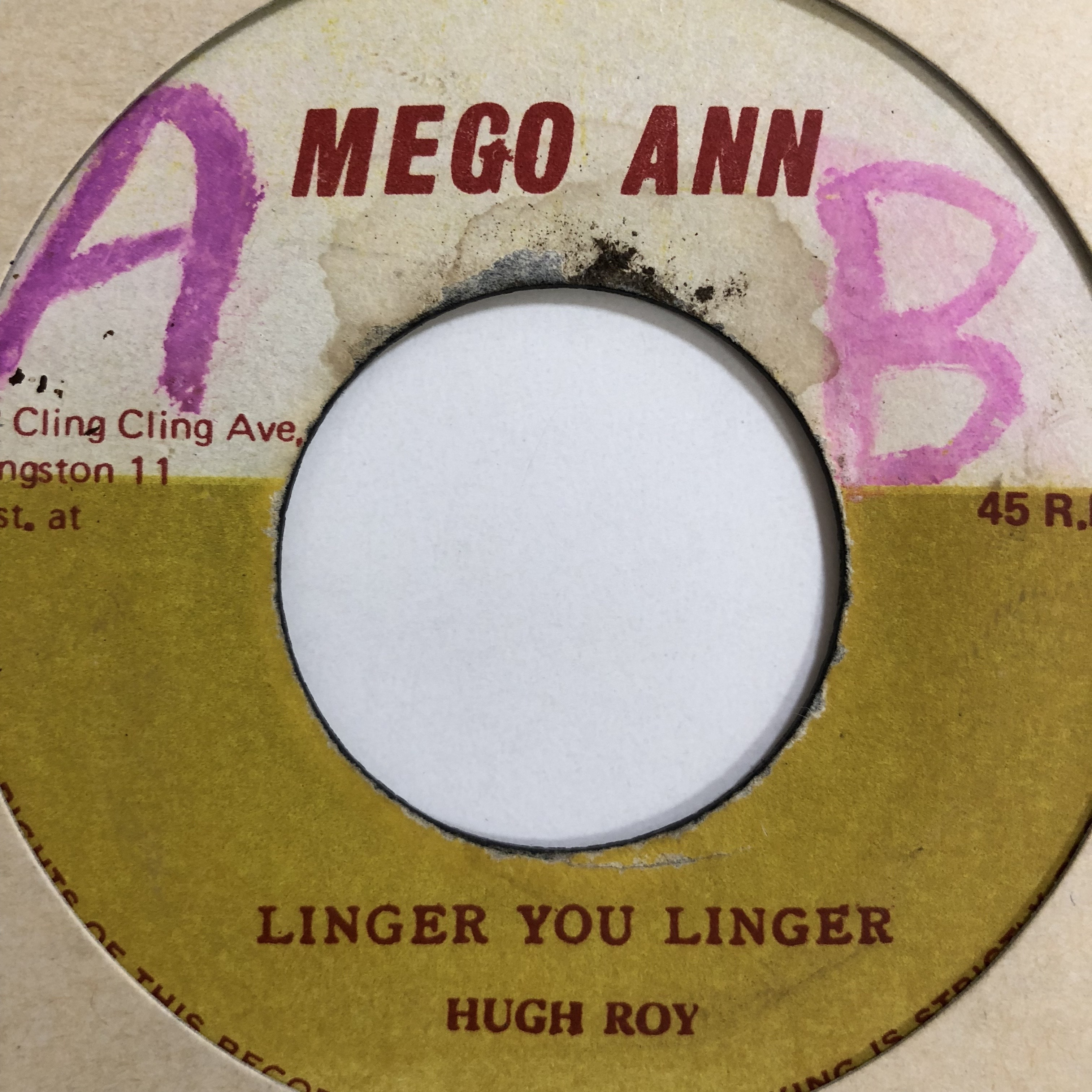 U Roy(Uロイ) - Linger You Linger【7'】