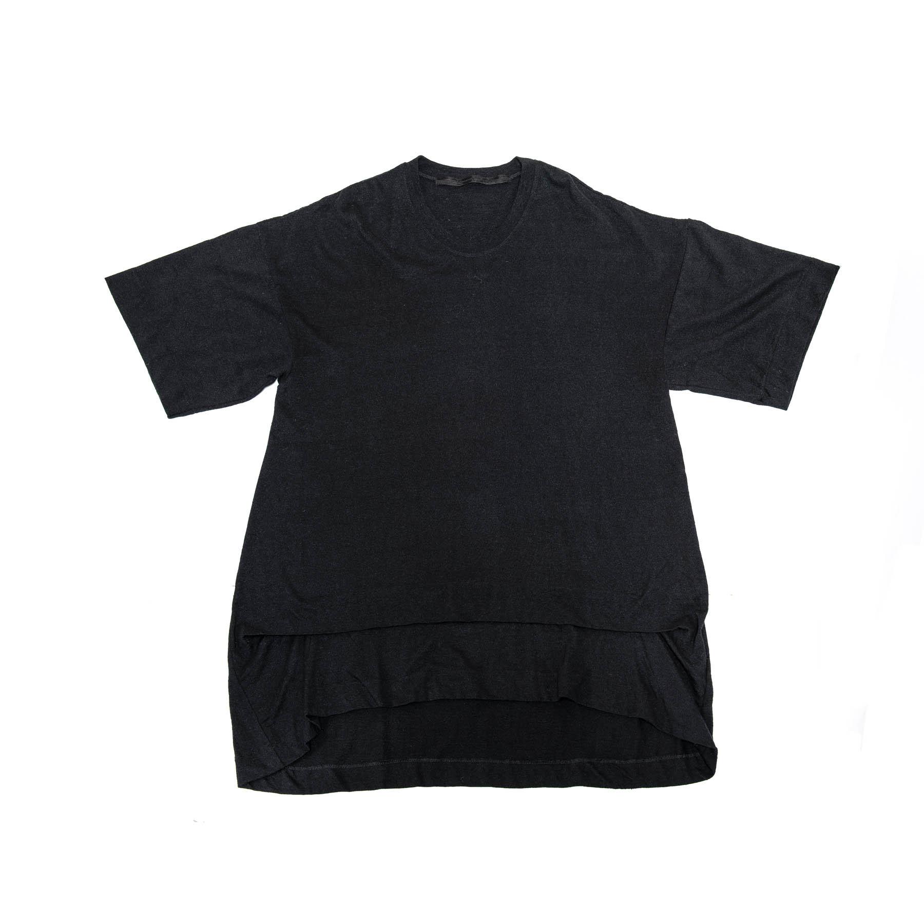 597CUM18-BLACK / タックドオーバーカットソー