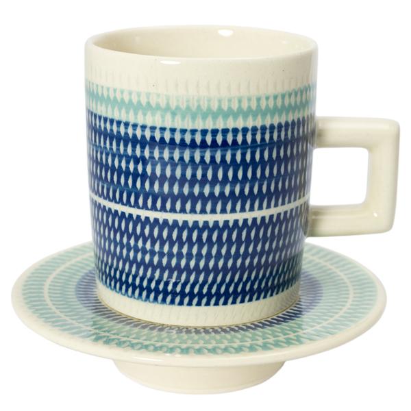 T-kamna コーヒーカップ&ソーサーM ブルー