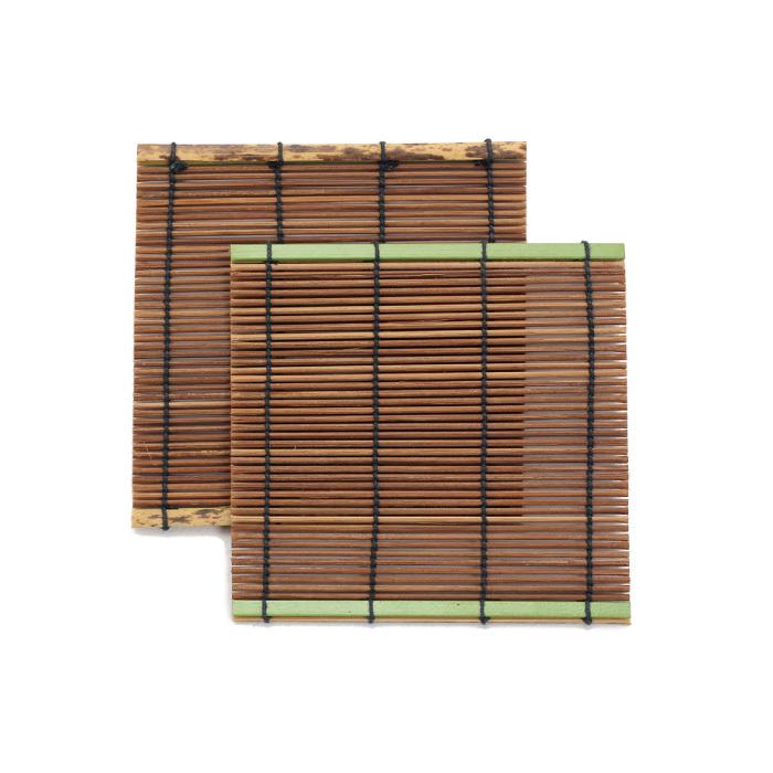 すす竹リバーシブルコースター(大)(5枚P入) 【50-032】