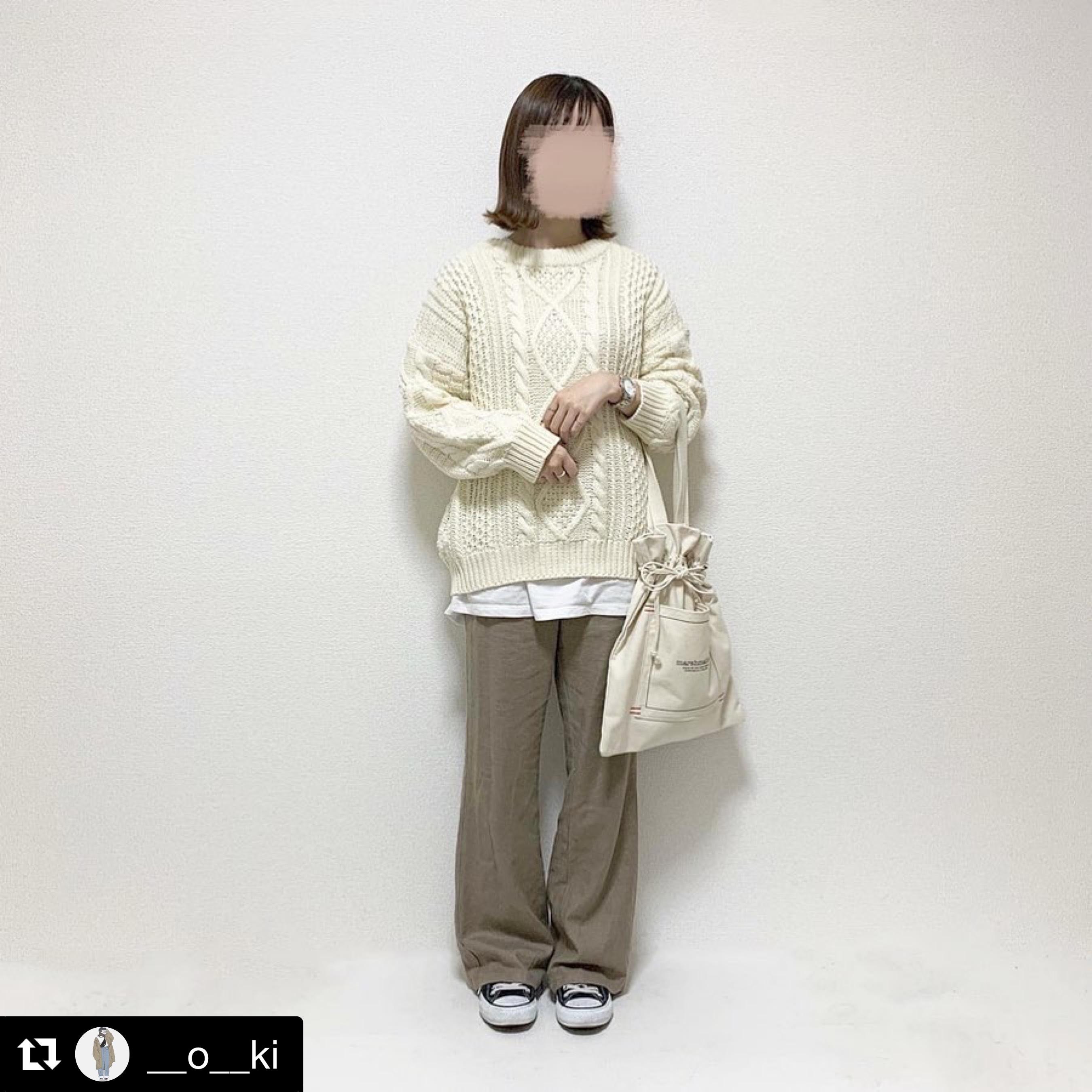 【送料無料】 冬のヘビロテアイテム♡ ざっくり オーバーサイズ ケーブル編み ニット トップス 大人可愛い カジュアル