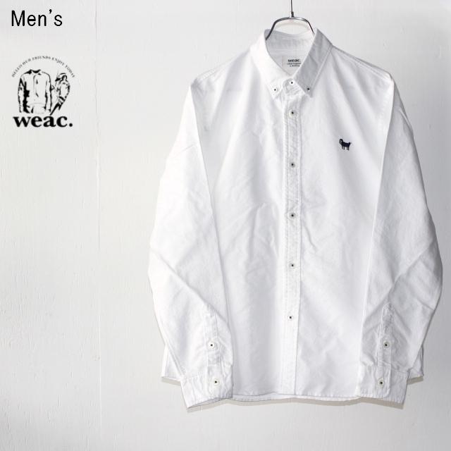 weac. ボタンダウンシャツ PUGCHAN (WHITE) 【Men's】