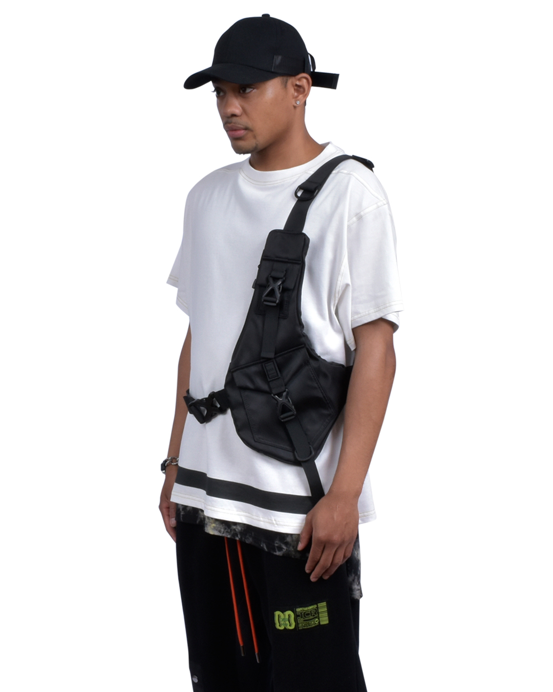 HARNESS BELT BODY BAG - BLACK