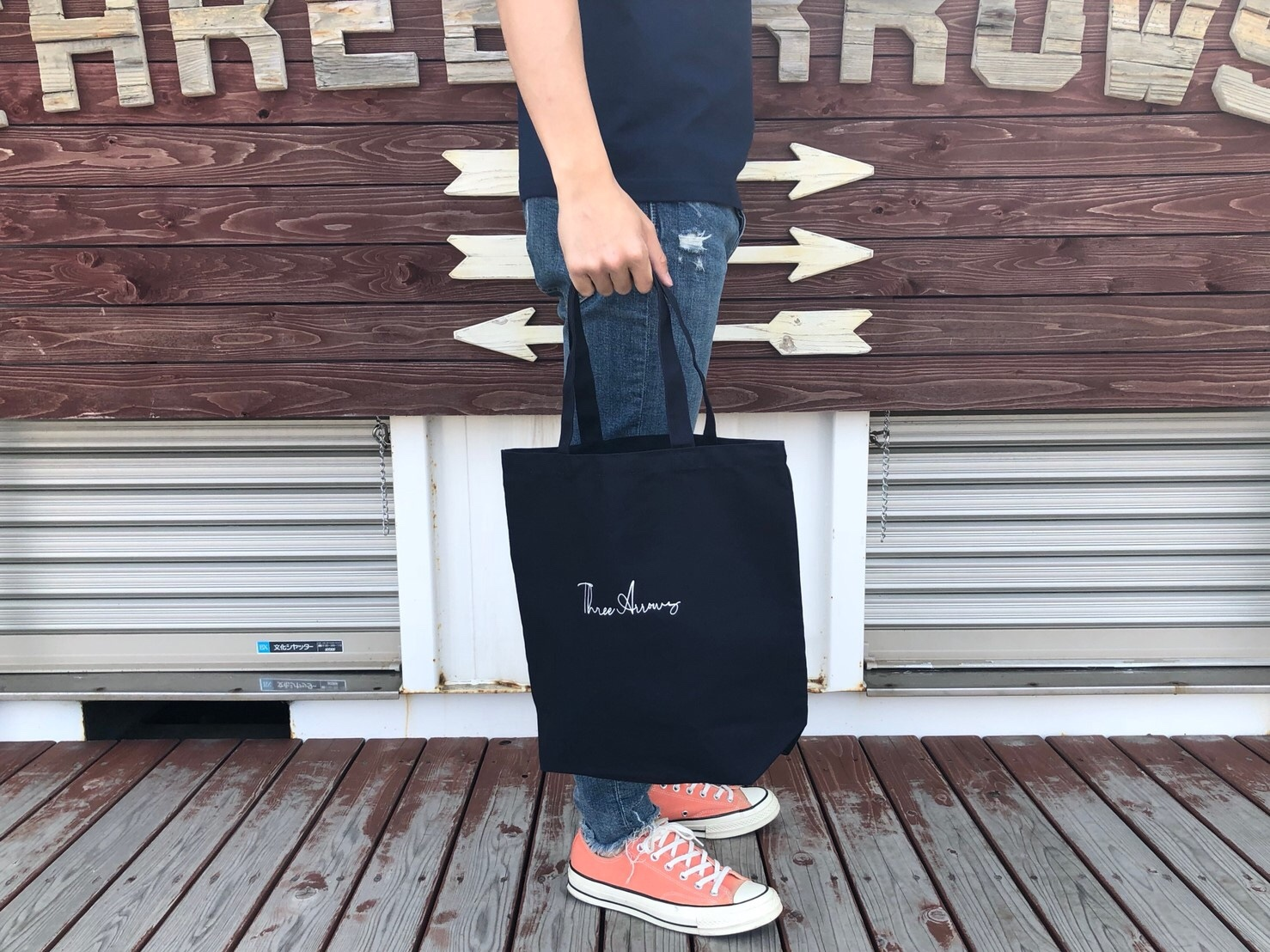 Have a nice day トートバック (navy)