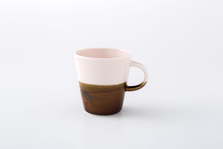 マグカップ:S (ピンク×飴) / 前野達郎