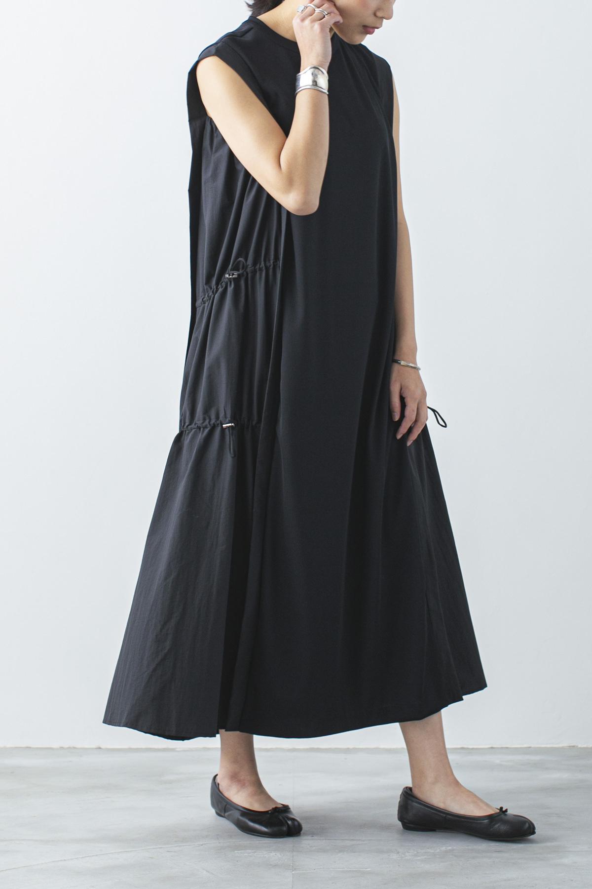 ティアードギャザードレス <ブラック> #3