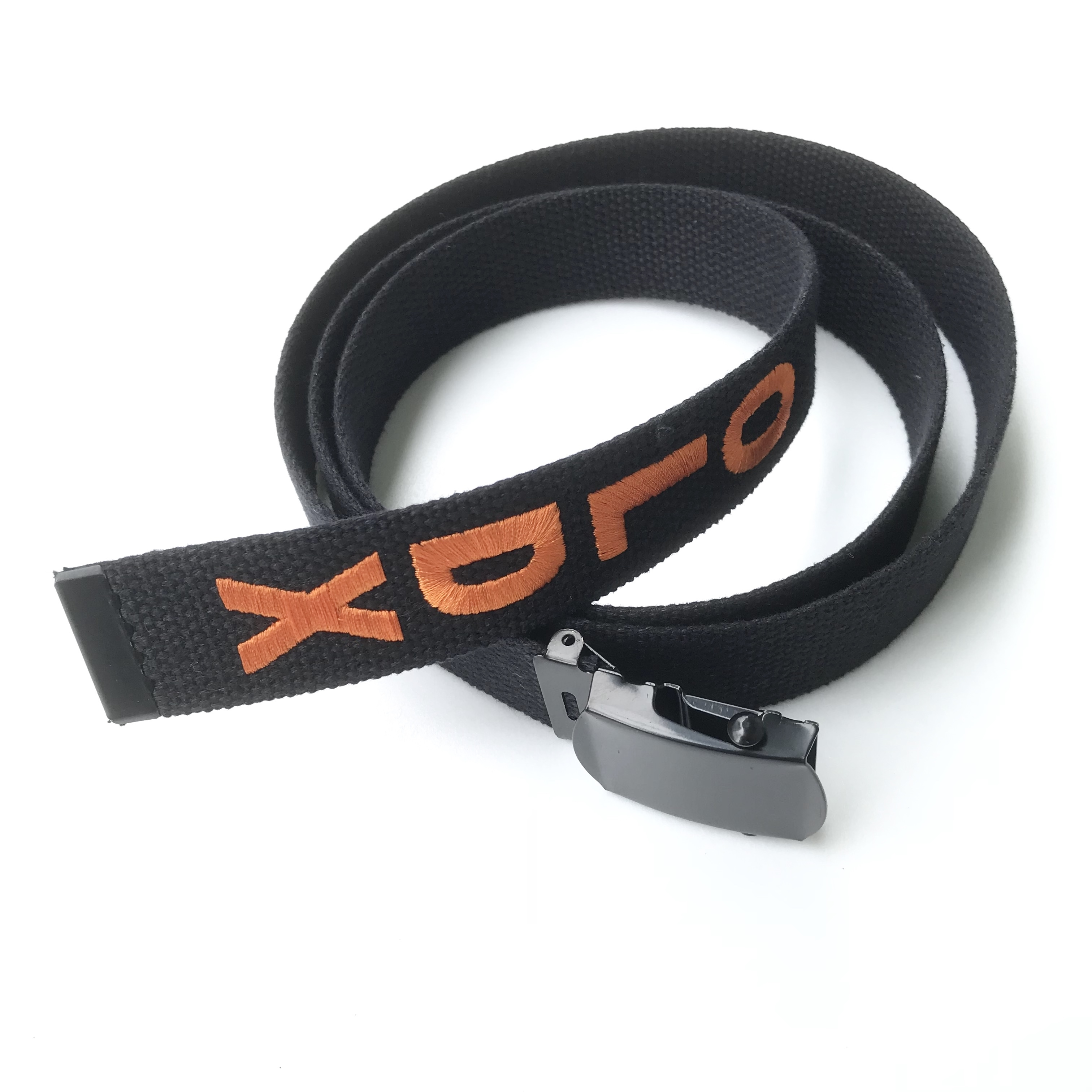 Long web belt(BLACK x ORANGE)